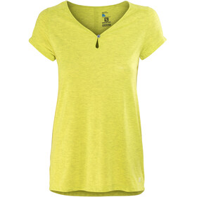 Salomon Ellipse Scoop Shortsleeve Shirt Women yellow